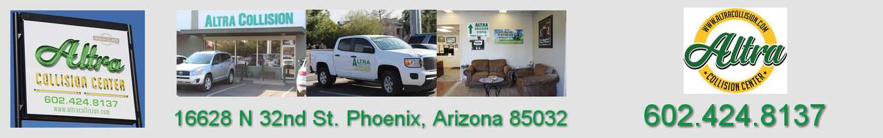 Altra Collision Center Body Shop, serving North Scottsdale, Phoenix, Arizona